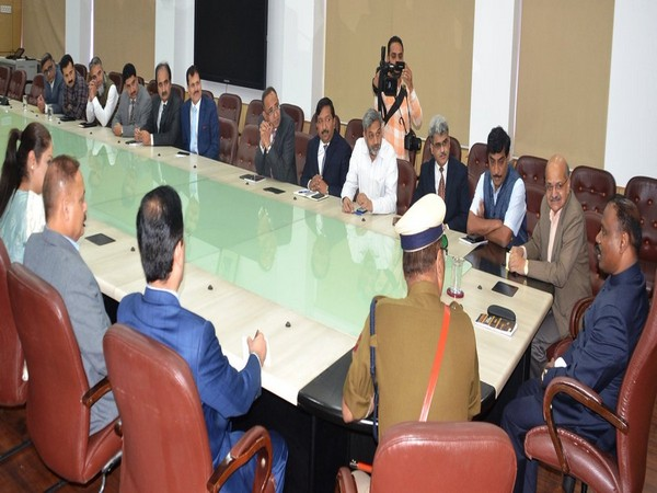 J &K LG GC Murmu held a meeting with officials at civil secretariat in Jammu on Monday