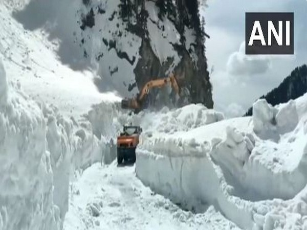 Snow clearance operations underway on J-K's Mughal Road
