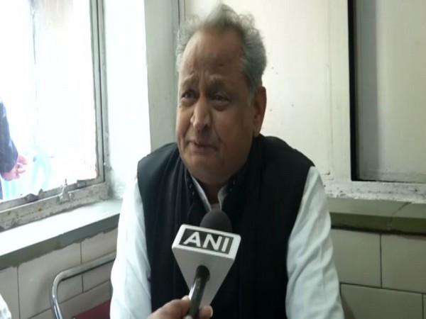 Rajasthan Chief Minister Ashok Gehlot speaking to ANI in New Delhi on Monday. Photo/ANI