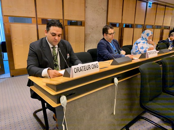 Junaid Qureshi, Director of European Foundation for South Asian Studies, speaking at the UNHRC in Geneva