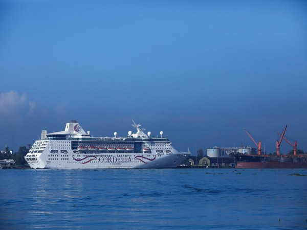 Cruise arriving at Cochin port on Wednesday (Photo/ANI)