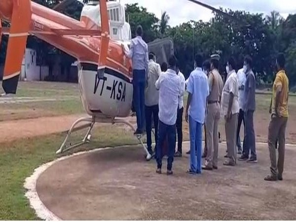 Pithapuram MLA P Dorababu was airlifted from Kakinada to a hospital in Bangalore (Photo/ANI)