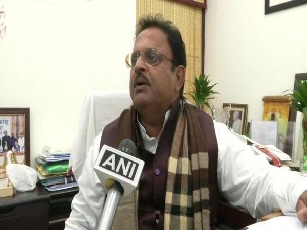 Rajasthan Health Minister Raghu Sharma in Jaipur in Rajasthan spoke to ANI on Sunday. Photo/ANI