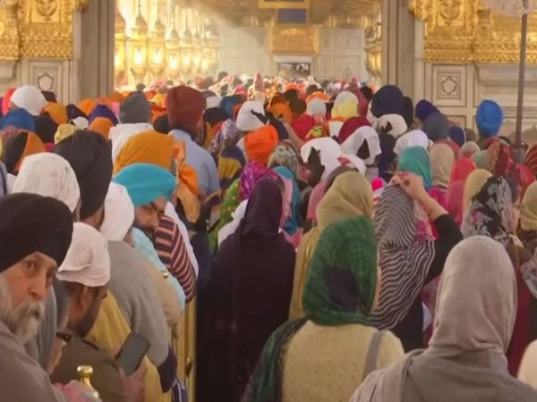 Devotees at Golden Temple in Amritsar on the occasion of Holi.