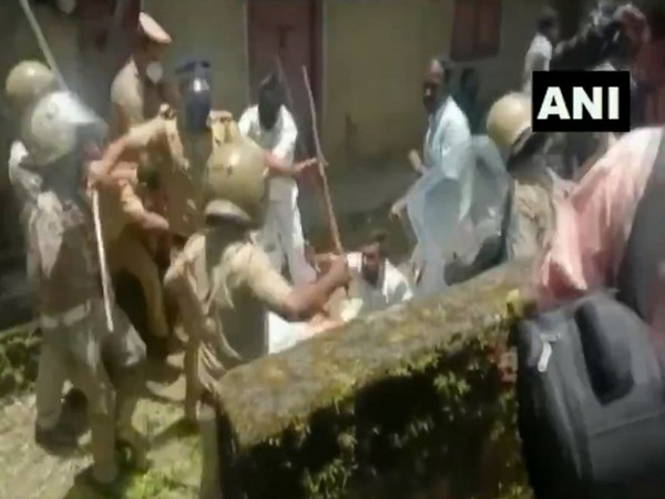 Kerala Police on Friday cane-charged protesters in Wayanad. (Photo/ANI)