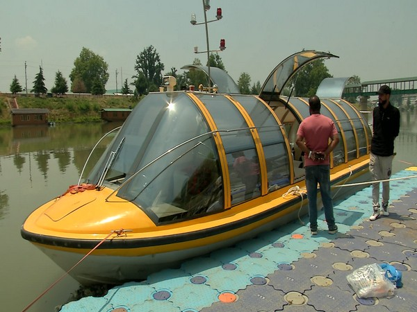 A visual of the imported luxury 'Bus Boat' in Jammu and Kashmir. (Photo/ANI)