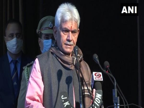 Jammu and Kashmir Lieutenant Governor Manoj Sinha. [Photo/ANI]