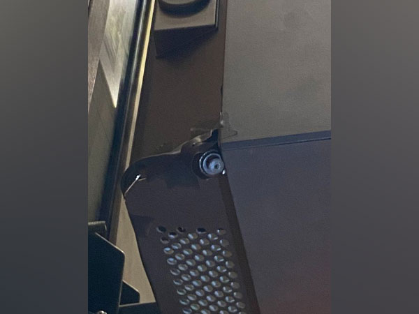Myself and Dr Musadik found spy cameras right over the polling booth!!!! (Mustafa Nawaz Khokhar/Twitter)