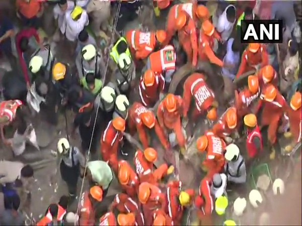 Rescue operations underway in Mumbai's Dongri area after the four-storeyed Kesarbai building collapsed earlier on Tuesday.