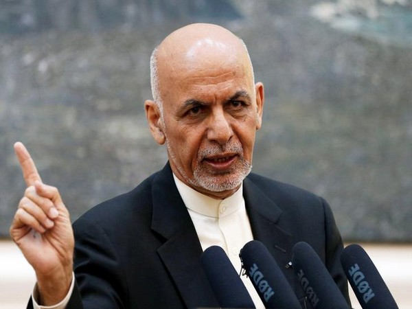 Afghan President Ashraf Ghani speaks at a news conference in Kabul