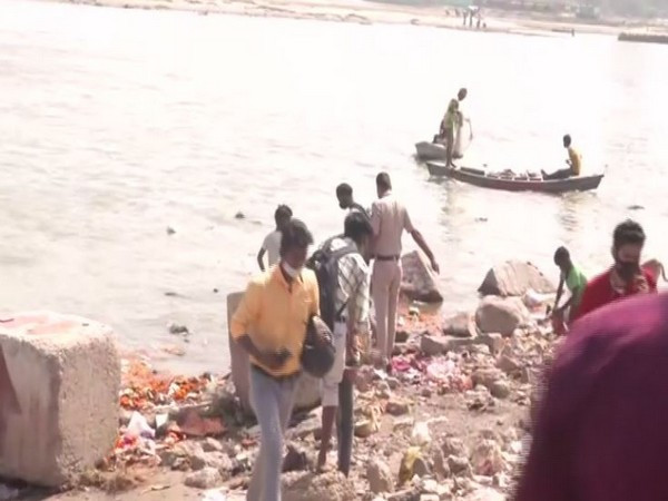 Visuals from the Yamuna Ghat in Delhi (Photo/ANI)