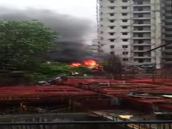 Visuals from last year's plane crash in Ghatkopar (file photo)
