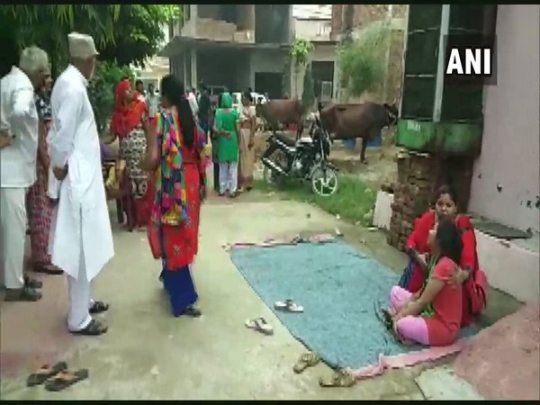 Visuals from outside the residence of man who committed suicide in Ghaziabad, Uttar Pradesh.
