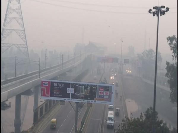 Smoke engulfed Ghaziabad on Wednesday [Photo/ANI]