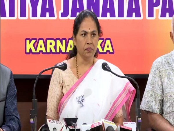BJP MP Shobha Karandlaje held a press conference here on Monday in Karnataka's Bengaluru. Photo/ANI