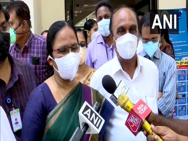 Kerala Health Minister KK Shailaja speaks to ANI in Thiruvananthapuram on Tuesday. [Photo/ANI]