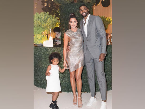 Celebrity couple Khloe Kardashian and Triston Thompson with their daughter True (Image source: Instagram)