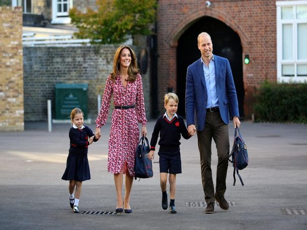 Princess Charlotte, Kate Middleton, Prince George and Prince William