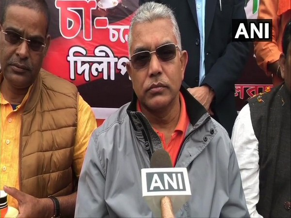 West Bengal BJP chief Dilip Ghosh speaking to ANI in Siliguri on Wednesday.