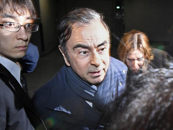 Former Nissan chief Carlos Ghosn in Tokyo on Apr 3 (Image Source: Reuters)