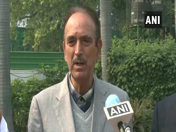 Congress leader Ghulam Nabi Azad speaking to ANI on Thursday. (Photo/ANI)