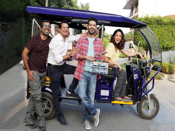 The film's team -- Puneet Khanna, Vinod Bachchan, Vikrant Massey and Yami Gautam, Image courtesy: Instagram