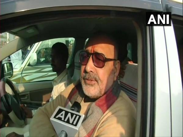 Union Minister Giriraj Singh speaking to ANI in New Delhi on Saturday.