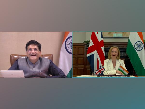 Piyush Goyal discussing India-UK trade partnership with British's Secretary of State for International Trade on Monday.
