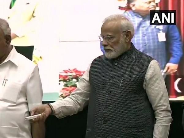 Prime Minister Narendra Modi during the event in Benagluru in Karnataka on Thursday.