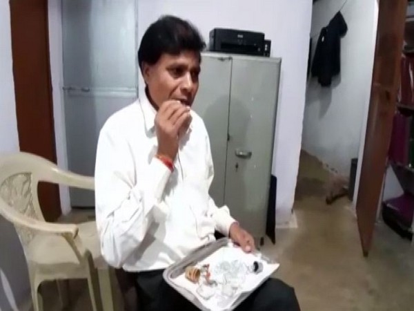 Dayaram Sahu claimed he had been eating glass for over 40 years. (Photo/ANI)