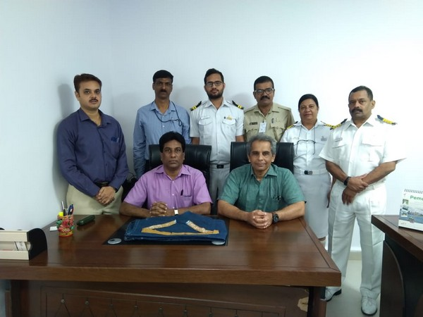 Custom Department officials with the seized gold paste on Wednesday(Photo/ANI)