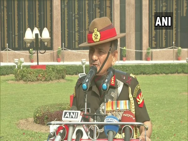 Eastern Army Commander Lieutenant General Anil Chauhan at Vijay Diwas event in Kolkata on Monday