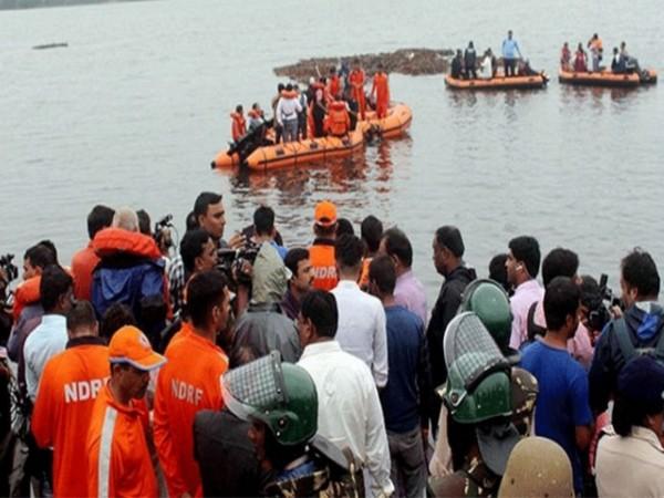 Rescue operations in the Godavari boat capsize incident. (File photo)