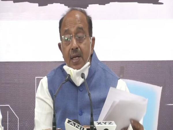 BJP leader Vijay Goel addressing a press conference in New Delhi on Saturday. Photo/ANI