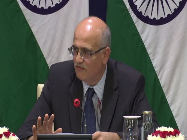 Foreign Secretary Vijay Gokhale at a press briefing in New Delhi on Thursday. (ANI/Photo)