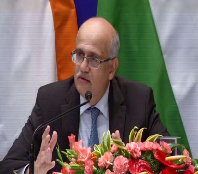 Foreign Secretary Vijay Gokhale addressing media in Chennai on Friday.