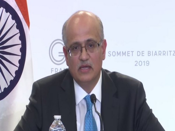 Foreign Secretary Vijay Gokhale at the media briefing in Biarritz, France on Monday (Photo/ANI)