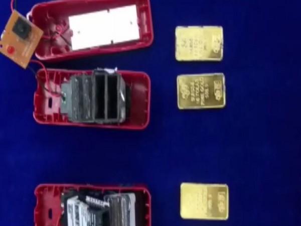 Rs 32 lakh gold seized at Chennai International airport on Tuesday. (Photo/ANI)
