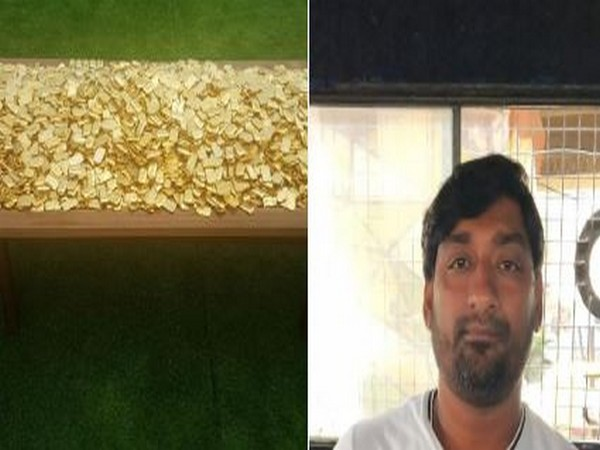 SIT seizes fake gold biscuits weighing 303 kg and taken a person identified Vasim into custody. (Photo/ANI)