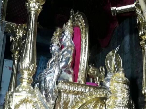 A Choki designed with gold in Prayagraj on Tuesday. Photo/ANI