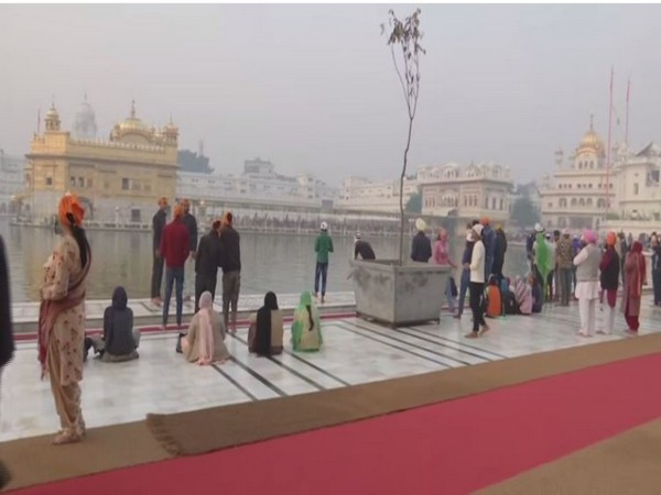 Devotees at Golden Temple, Amritsar on Tuesday. Photo/ANI