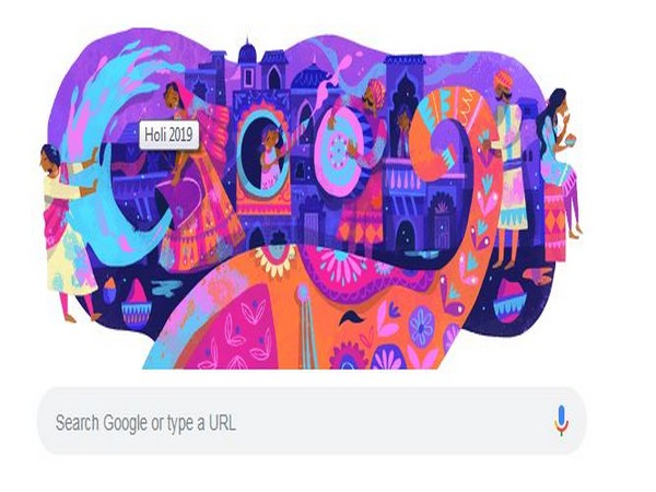 Google Doodle on the occasion of Holi