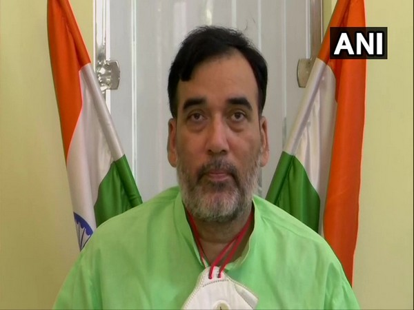 Delhi's Labour and Employment Minister Gopal Rai during a press conference on Sunday. (Photo/ANI)