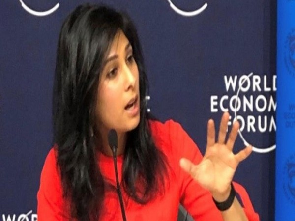 IMF Chief Economist Gita Gopinath at World Economic Forum, Davos, Switzerland, on Monday.