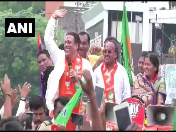 Actor Govinda campaigns for BJP candidate in Maharashtra Assembly polls on Saturday.