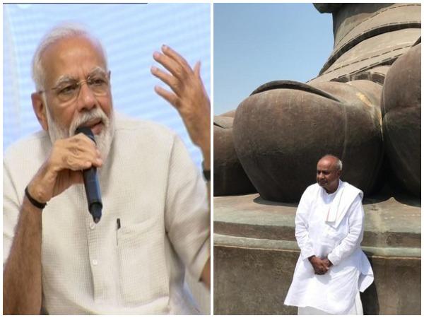 Prime Minister Narendra Modi (file photo) and HD Devegowda