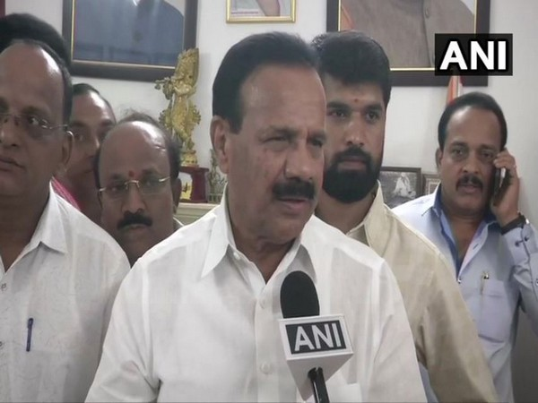 BJP leader DV Sadananda Gowda told ANI that he will be sworn-in as minister at 7 pm in the evening. (Photo/ANI)