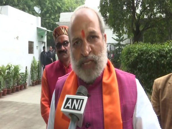 BJP leader Jai Bhagwan Goyal speaking to ANI in New Delhi on Monday. Photo/ANI