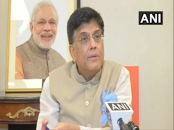 Railway Minister Piyush Goyal speaking to ANI in New Delhi on Tuesday. (Photo/ANI)