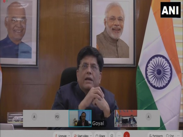 Union Minister Piyush Goyal during a press conference on Tuesday. (Photo/ANI)